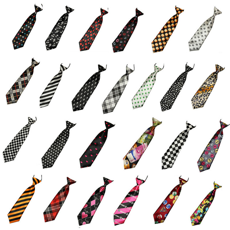 1Pcs 3D Stripe Plaid Print Men Neck Ties Fashion School Boys Children Kids Baby Men Wedding Elastic Tie Multi Colors