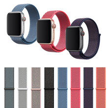 Band For Apple Watch Series 4/3/2/1 38MM 42MM Nylon Soft Breathable Replacement Strap Sport Loop for Apple Watch Band 44MM 40MM уличный светильник feron 8105 fr 11248