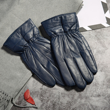 High Quality autumn winter gloves Genuine Leather Gloves Men Glove Real Sheep Mittens Mens