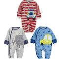 Bebé mameluco del otoño del resorte Ropa de Bebé Pijamas de Dibujos Animados Lindo de Algodón de Manga Larga Infantil de bebe trajes Mamelucos del bebé
