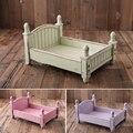 4 цвета реквизит для фотосъемки новорожденных мини маленький в стиле кантри, деревянная кровать для детской фотосъемки корзина мебель скла...