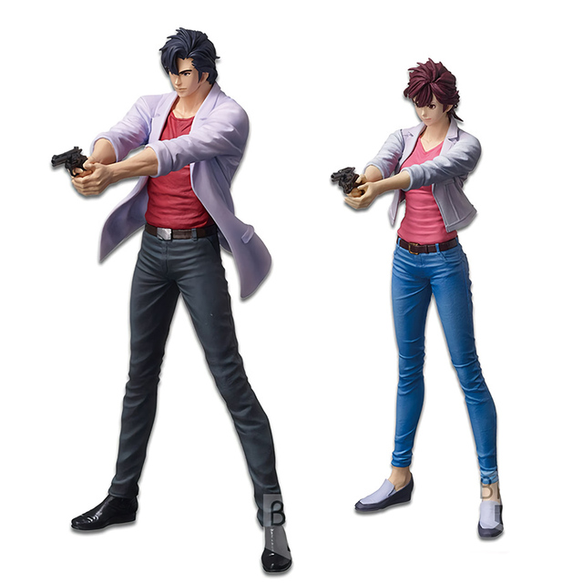 Us 24 0 31 Off Aliexpress Com Buy Tronzo Original Banpresto Action Figure Anime Movie City Hunter Saeba Ryo Makimura Kaori Pvc Figure Model Dolls