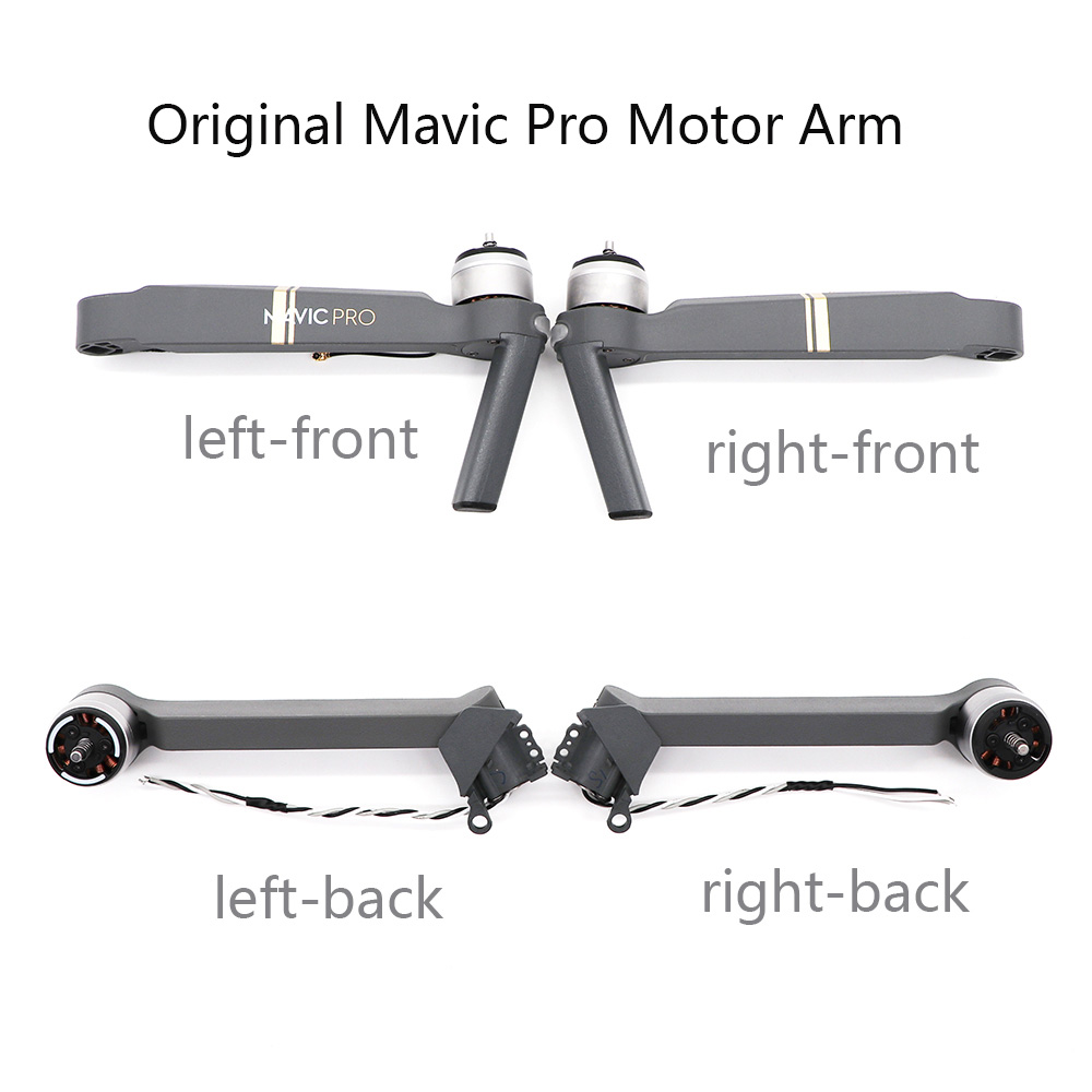 Original New Front Back Left Right Mavic Pro Motor Arm With Cable Spare Parts DJI Mavic Pro Arm With Motor Repair Accessories