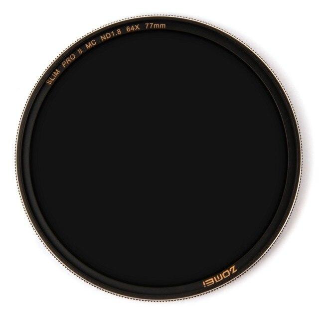 Zomei Filtro ND8 ND64 ND1000 N EutralกรองM Ulticoatedความหนาแน่นO Pticalแก้วFilterเศษไม้ขอบ49 52 55 58 62 67 72 77 82มิลลิเมตร
