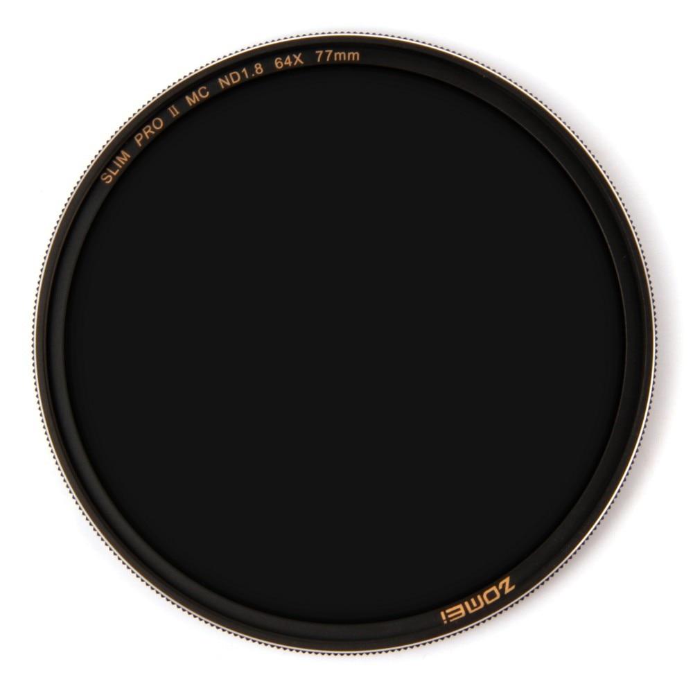 Zomei ND8 Filtro ND64 Filtro ND1000 Densidade Neutra Multicoated Vidro Óptico Lasca Aros de filtro 49 52 55 58 62 67 72 77 82mm