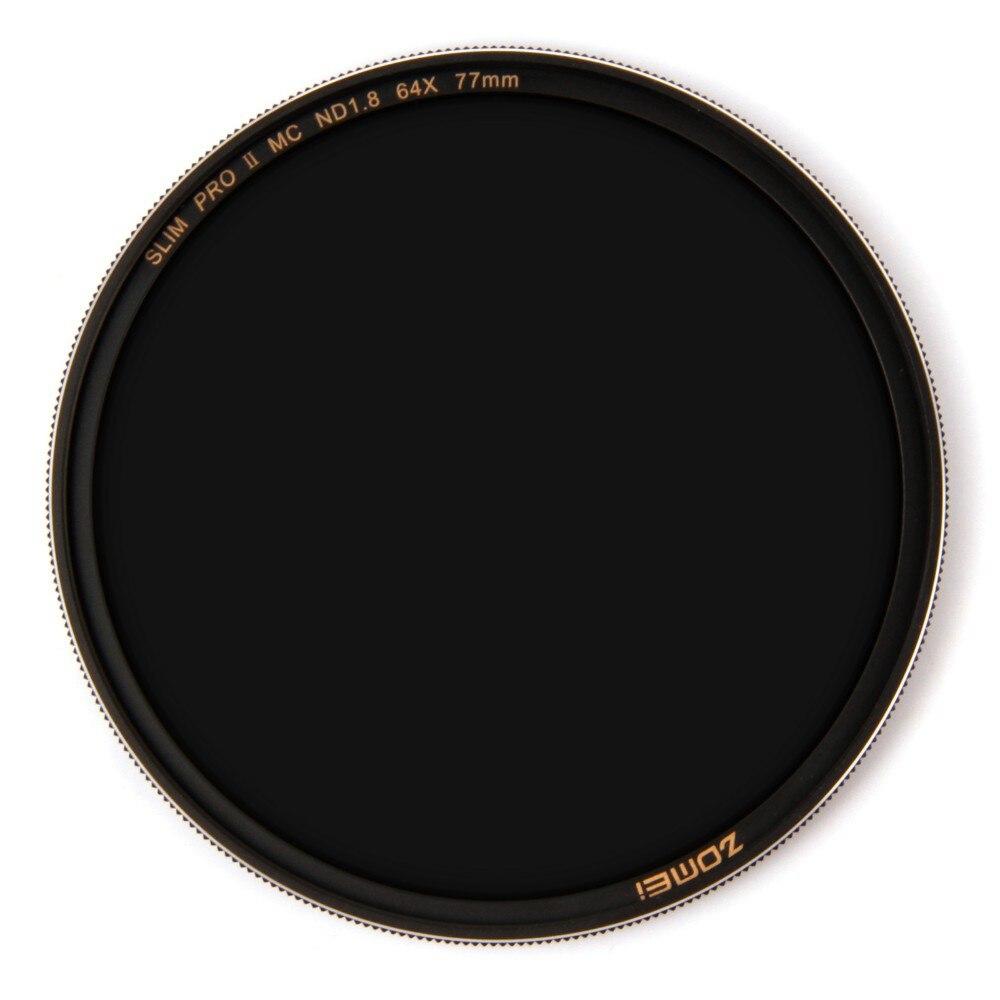 Zomei filtro ND8 ND64 ND1000 filtro multicoated vidrio óptico de densidad filtro astilla 49 52 55 58 62 67 72 77 82mm