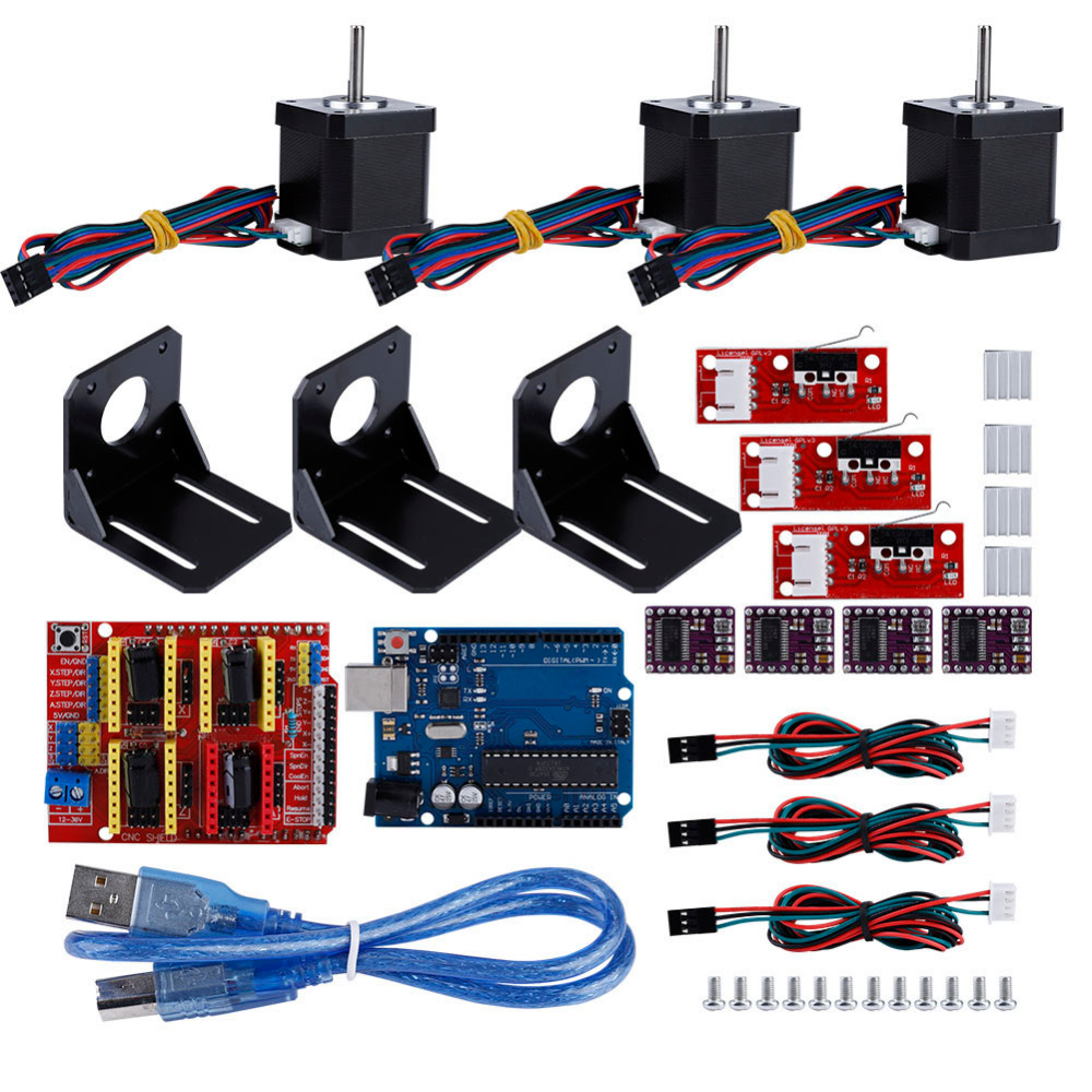 Professional 3D Printer Arduino CNC Module Kit Stepper Motor Drive For Kuman UNO R3 For Arduino 3D Printer Accessories