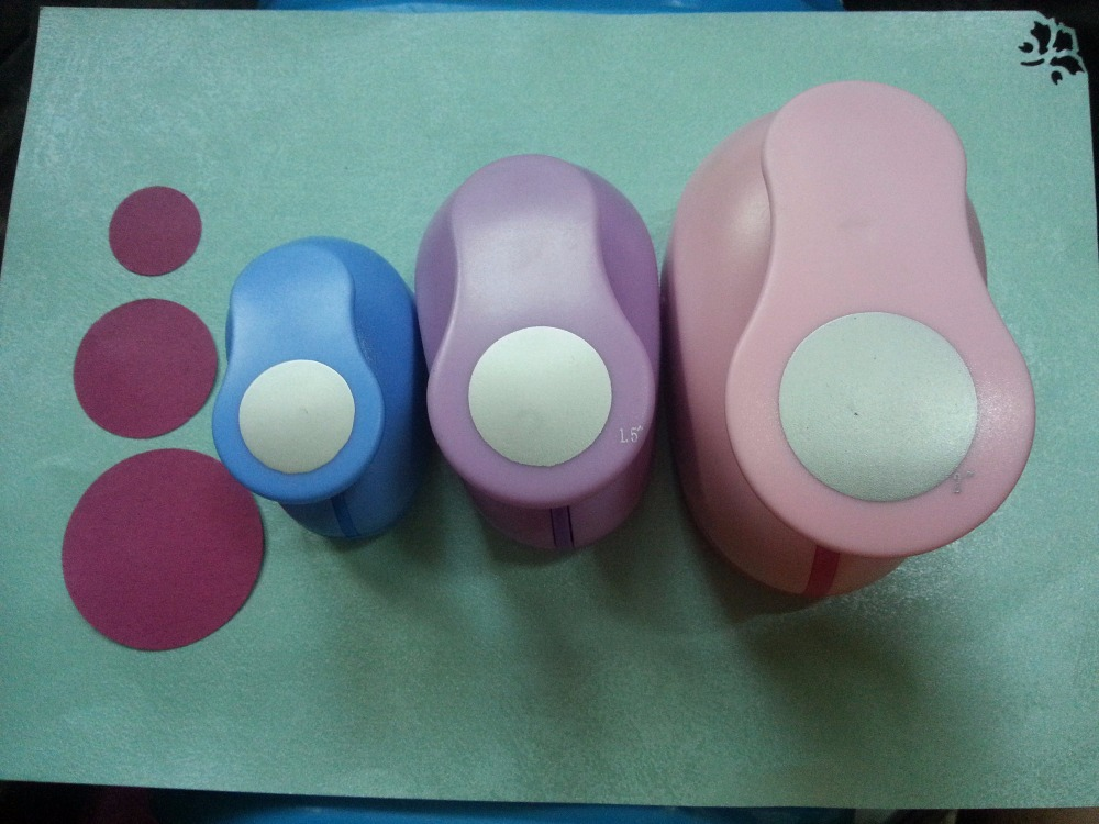 3 pièces (5.0 cm, 3.8 cm, 2.5 cm) ensemble de poinçon artisanal en forme de cercle Perforatrice Pour Scrapbooking coupe-papier Eva perforateur livraison gratuite