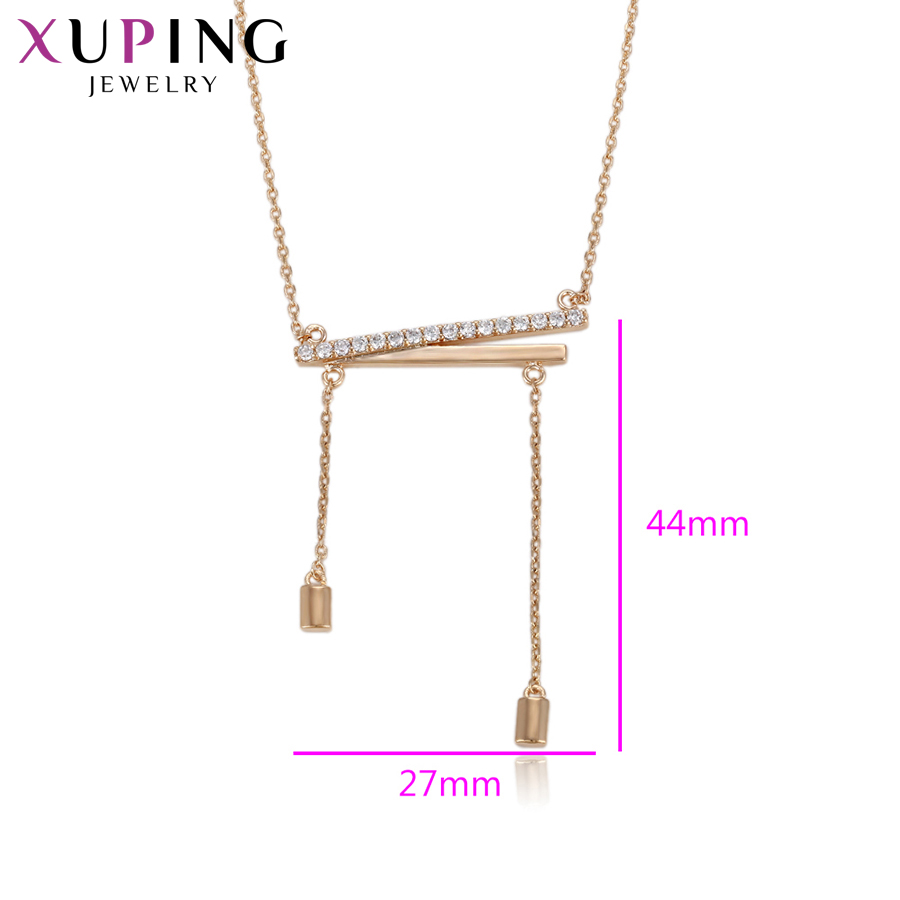 11.11 Deals Xuping Jewelry Fashion Newest Necklace Gold Color Plated Jewelry for Women New Years Day Present Gifts S116-44102