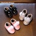 2016 invierno nuevas muchachas de La Manera zapatos de fiesta Liang Pi niños Mantener la boda pie caliente linda princesa de la Nieve botas al aire Libre gratis