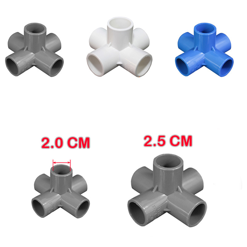 DIY Party decoration shelf 3D five channels fittings for pipe/pole, tent/shelf /wardrobes /balloon arch accessories 10 pcs/lot Полка