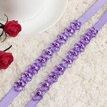 Women Bra Strap Flower Rhinestone Decoration Invisible Elastic Shoulder Straps for Bridal Wedding Party