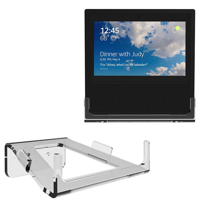 Park Smart Clear Wall Guard: Clear Acrylic Guard Station Protective Stand Holder Wall