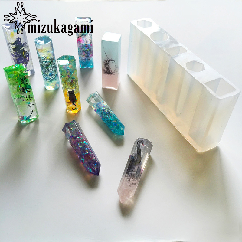 1pcs UV Resin Liquid Silicone Mold DIY Resin Jewelry Pendant Necklace Charms Long Mold Resin Molds For DIY Making Jewelry acrylic diy resin chapte diy handmade resin soap stamp chapter mini diy patterns z0125sz