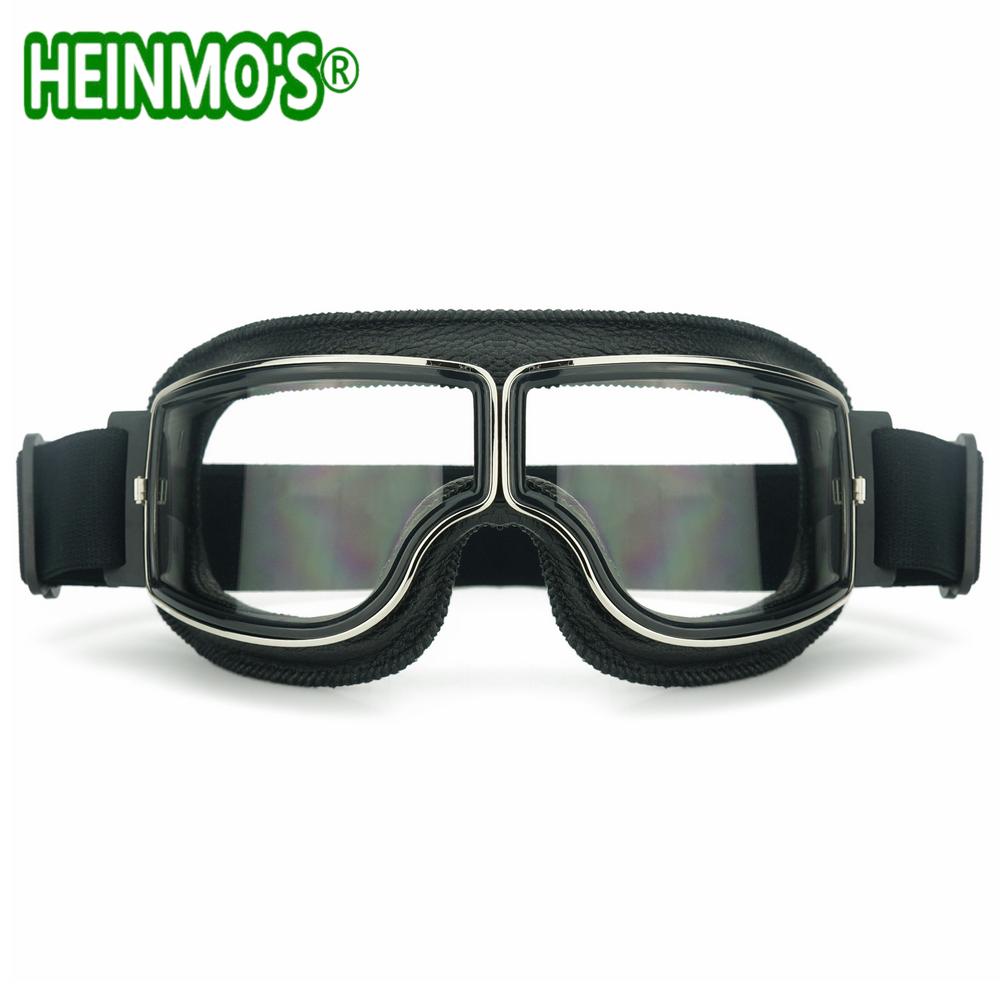 4cf21f431dc85 Novo SEGUNDA GUERRA MUNDIAL Do Vintage Gafas Óculos De Motocross Da ...