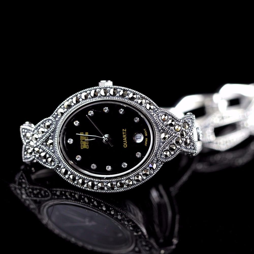 New Arrivals Vlinder Zilveren Horloge Top Kwaliteit S925 Zilveren Sieraden Horloge Echte Pure Zilveren Armband Horloges Echte Zilveren Bangle - 5