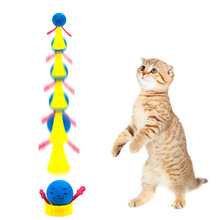 2pcs/set Funny Jumping Cat Toy Pet Bouncing Puppy Kitten Playing Toys Bouncy Balls for Accessories