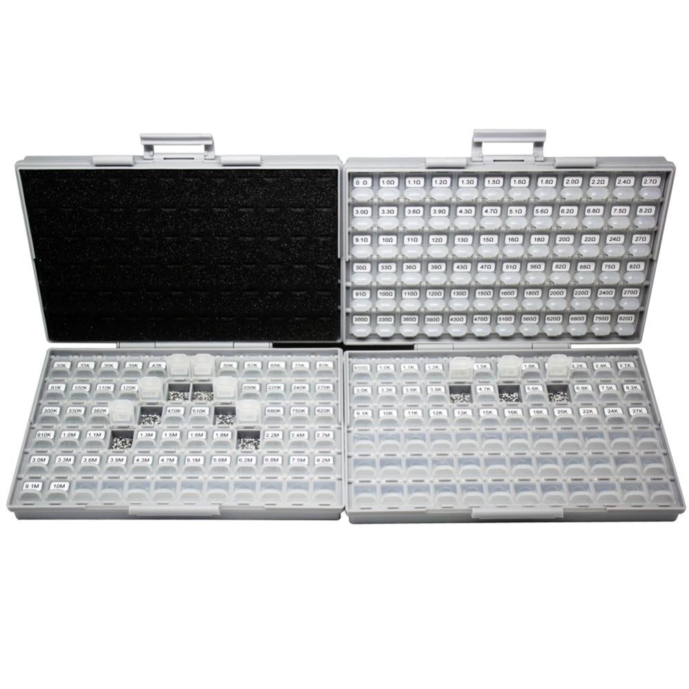 все цены на AideTek SMD 0805 5% resistor kit 2 enclosures 170Vx100=17000pcs plastic part box lable R0817100 онлайн