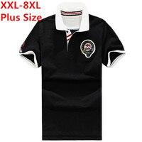 XXL 8XL Plus Size AK London Brand Polo Men Gasp Cotton Fitness Polo Shirt Black Pink