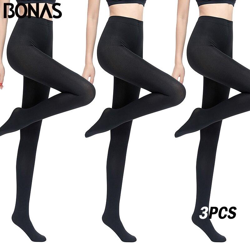 9d95980b0 BONAS 3PCS Warm Winter Tights Women Warm Cotton Tights Sexy Pantyhose Plus  Size Tights Winter Velvet