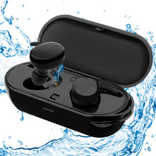 Touch Control Wireless Earphone Waterproof Bluetooth Earphone with Charger Box True TWS Bluetooth Earbuds for iPhone/Android(China)