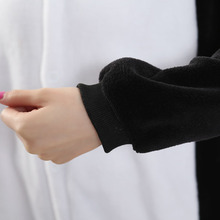Women Adult Penguin Onesie Funny Animal Cartoon Pajamas Party Jumpsuit Winter Black Warm Sleepwear Fashion Cute Coveralls Suit