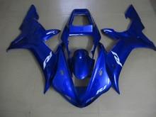 Мотоцикл Обтекатель комплект для YAMAHA YZFR1 02 03 YZF R1 2002 2003 yzfr1 YZF1000 ABS Холодный синий Обтекатели комплект + 7 подарки YM87