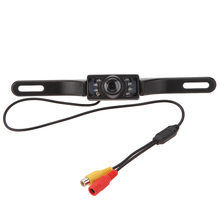 Car Rear View Camera License Plate Frame HD Parking Assistance Camera Vehicle Back Front 140 Camera 7 Infrared LED Night Vision(China)