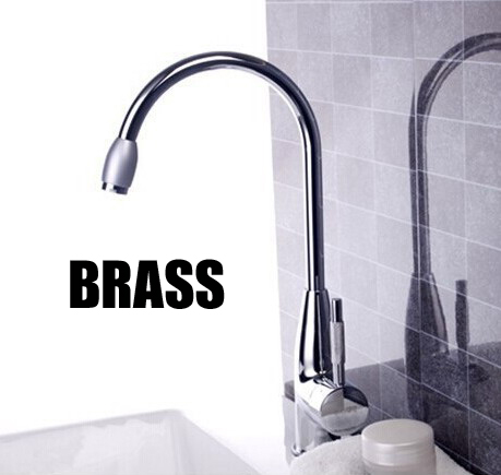 hot and cold water brass kitchen mixer faucet chromed polished ceramic valve kitchen tap