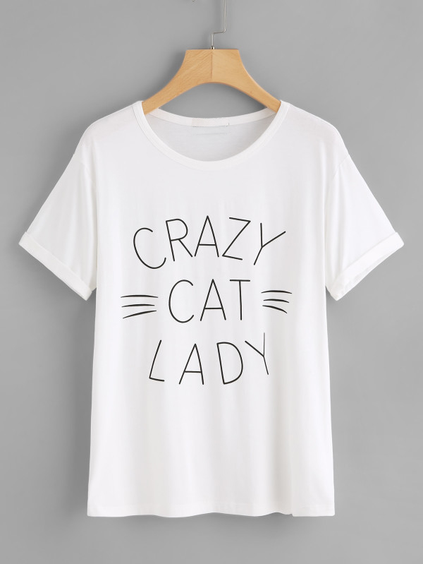 c83d6e43 Detail Feedback Questions about CRAZY CAT LADY T shirt simple style cotton  tees women fashion graphic tops harajuku japanese shirt camiseta tumblr  goth t ...