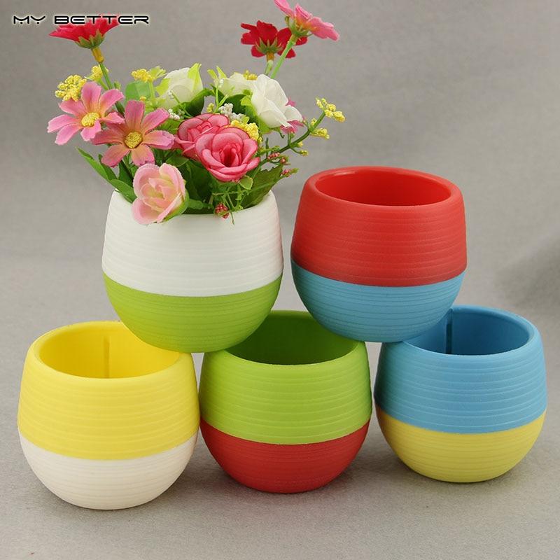 online buy wholesale flower pots plastic from china flower. Black Bedroom Furniture Sets. Home Design Ideas