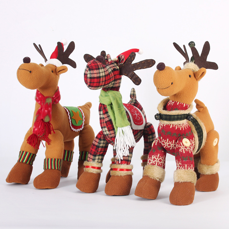 creative cloth christmas reindeer elf on the shelfchristmas crafts children christmas giftslovely - Christmas Reindeer Decorations