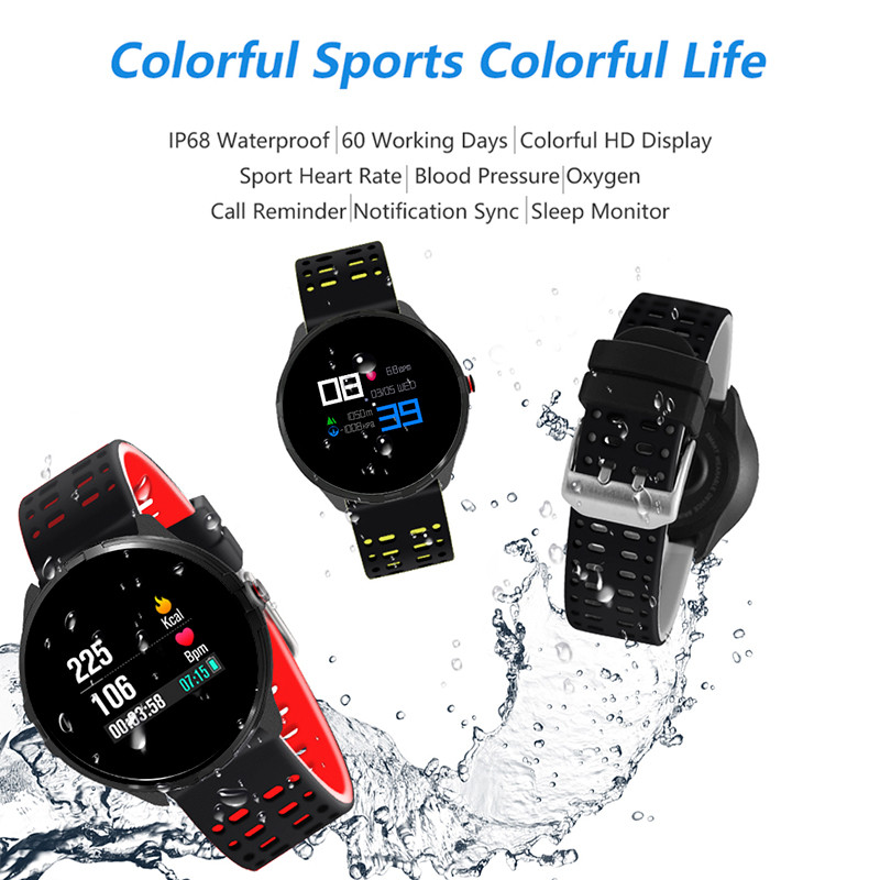 News Smart Watch with Heart Rate Blood Pressure Oxygen Clock IP68 Waterproof for Android IOS Smart Phone Sports Smart Watch new x7 smart watch with heart rate clock ultra long standby ip68 waterproof sports smartwatch message push for android ios phone
