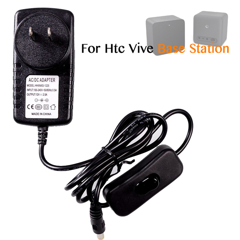 Sensor Base station power supply charger 1.2m for htc vive headset transmitter