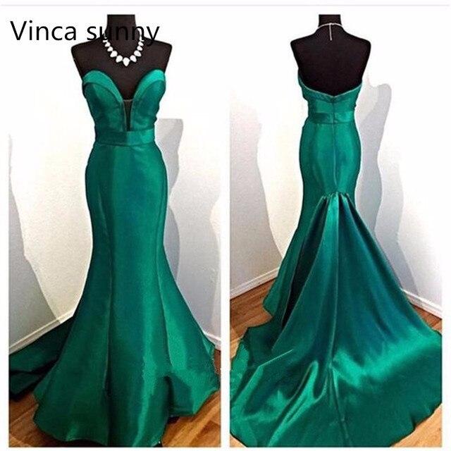فساتين سهرة أنيقة للسيدات من Noite Vestidos لعام 2020 فستان حورية البحر باللون الأخضر الزمردي للحفلات الراقصة فستان عاكس
