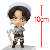 C&F Attack on Titan Mini Anime Action Figure Toys 10 CM Levi Ackerman Cleaner PVC Model Collectible Figures Toys For Gifts