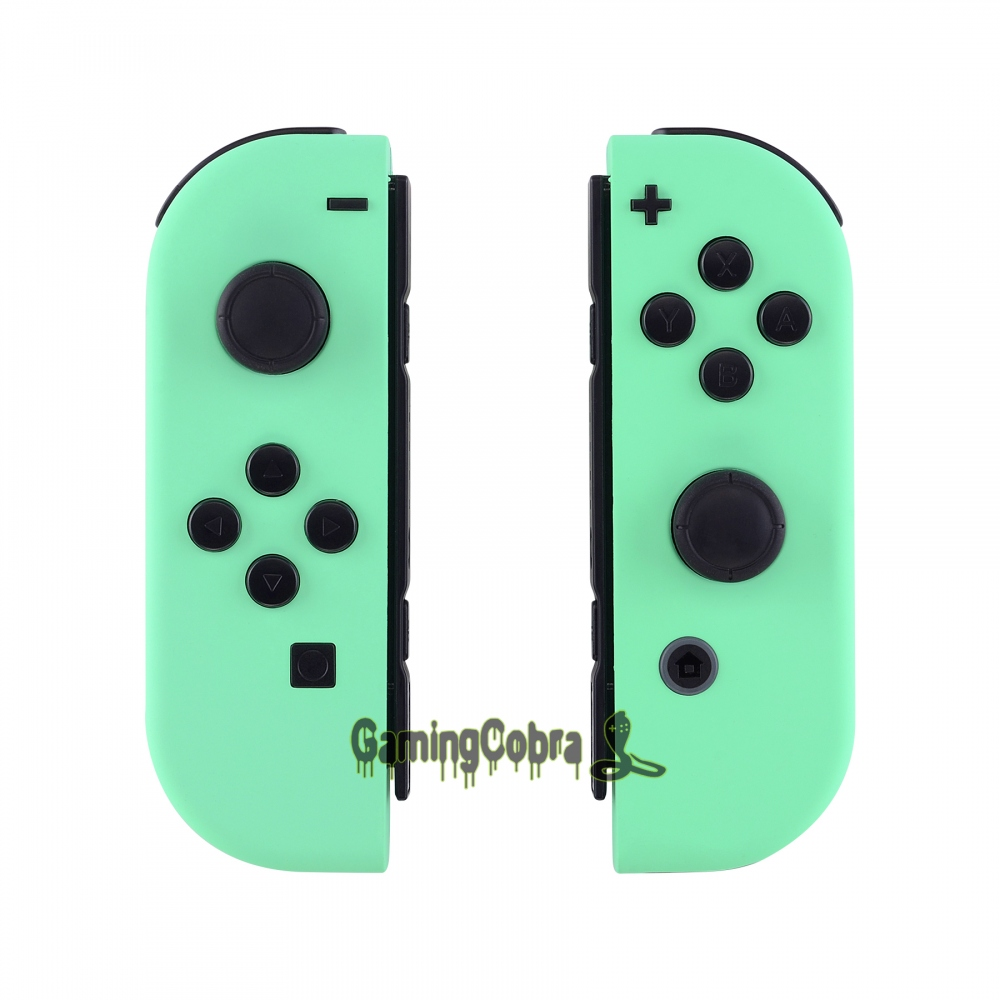 Custom Soft Touch Mint Green Controller Housing With Full Set Buttons DIY Replacement Shell Case For Nintendo Switch Joy-Con