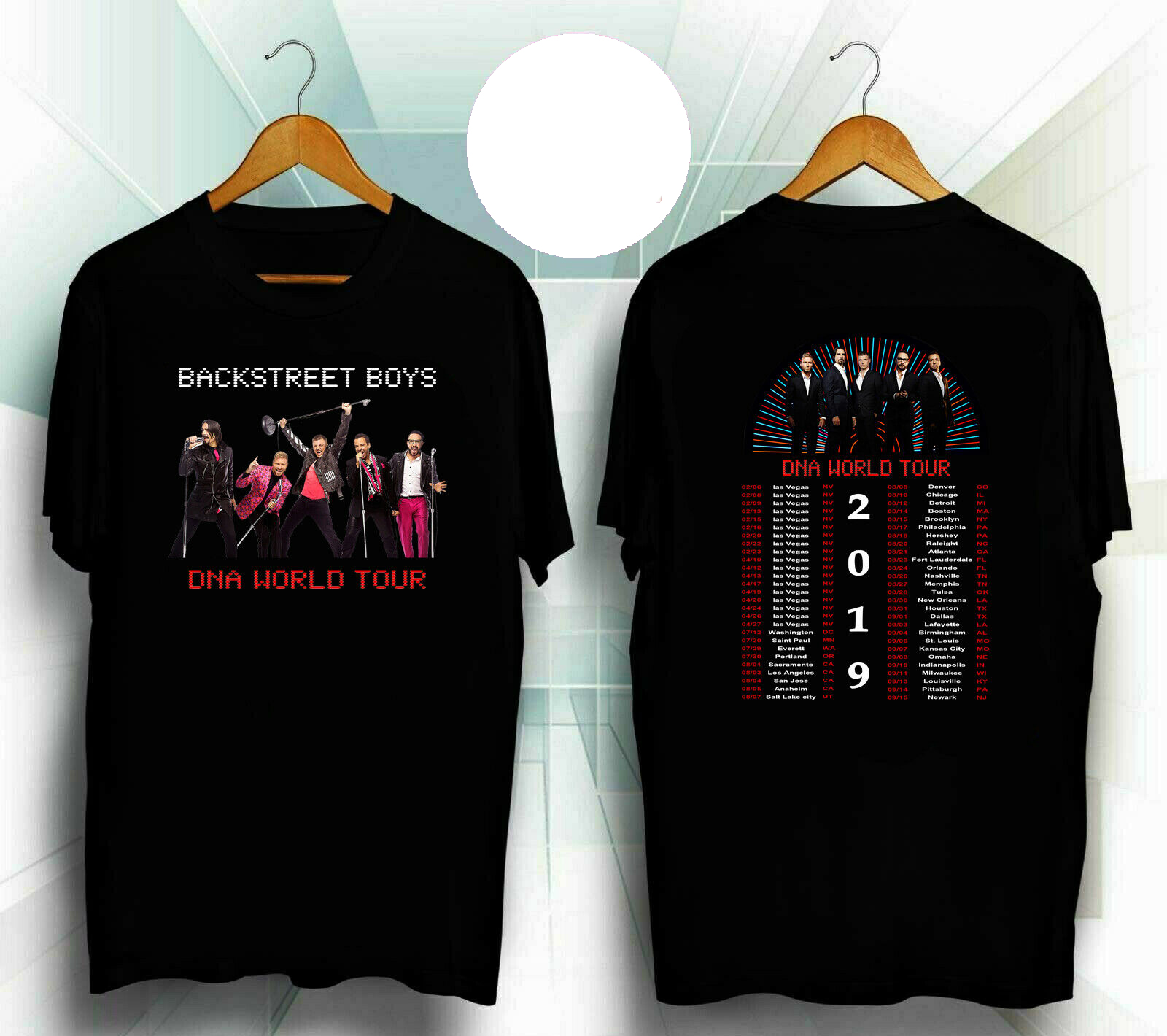 Customized New List Hot!! Backstreet Boys Dna World Tour 2020 Black-T-Shirt Harajuku T Shirts Men's Brand Homme Classic Camisa