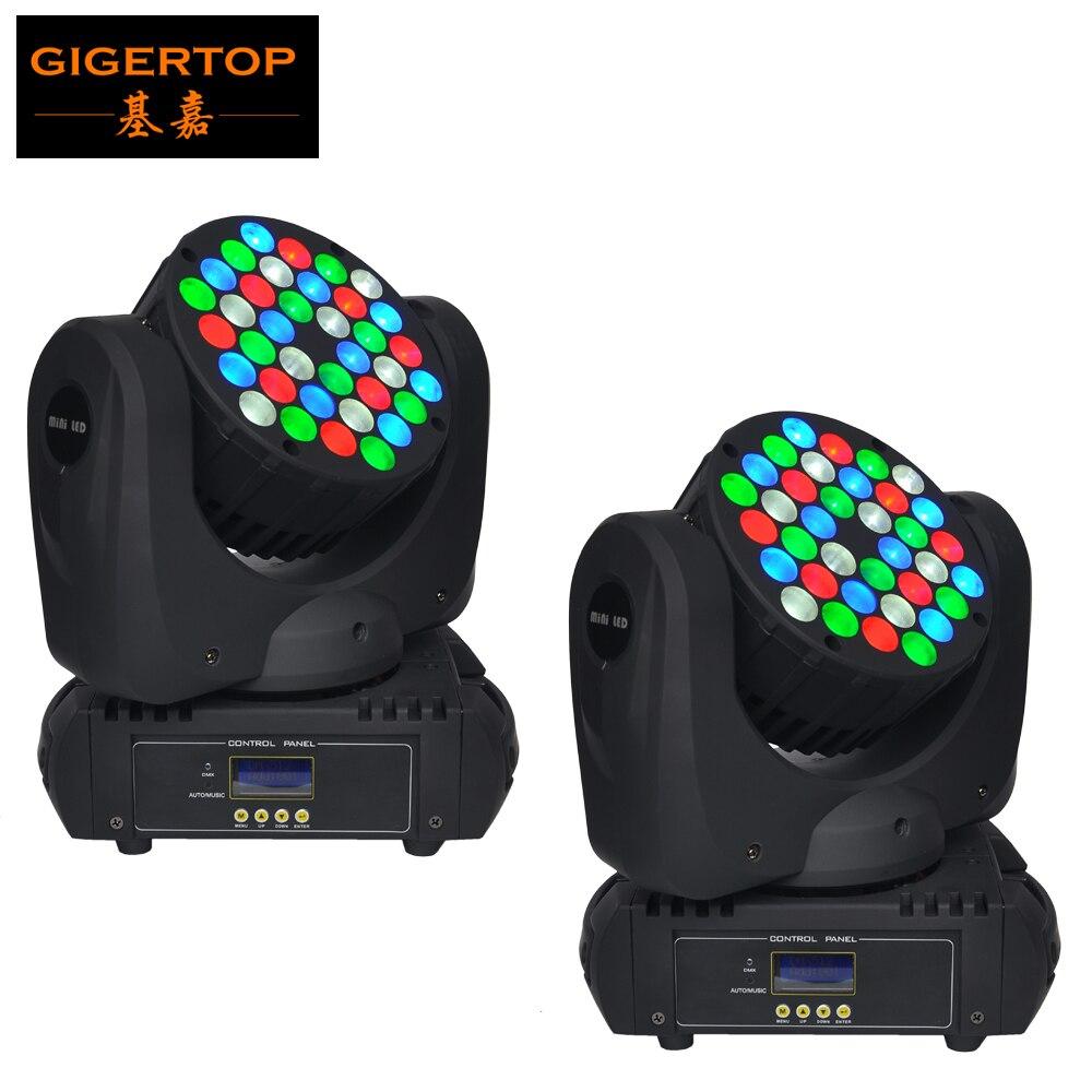 Freeshipping 2pcs/lot 36 X 5W LED Beam Wash Moving Head Light 36 CREE LEDs (R8,G10,B10,W8) Super Compact for disco, bar, club