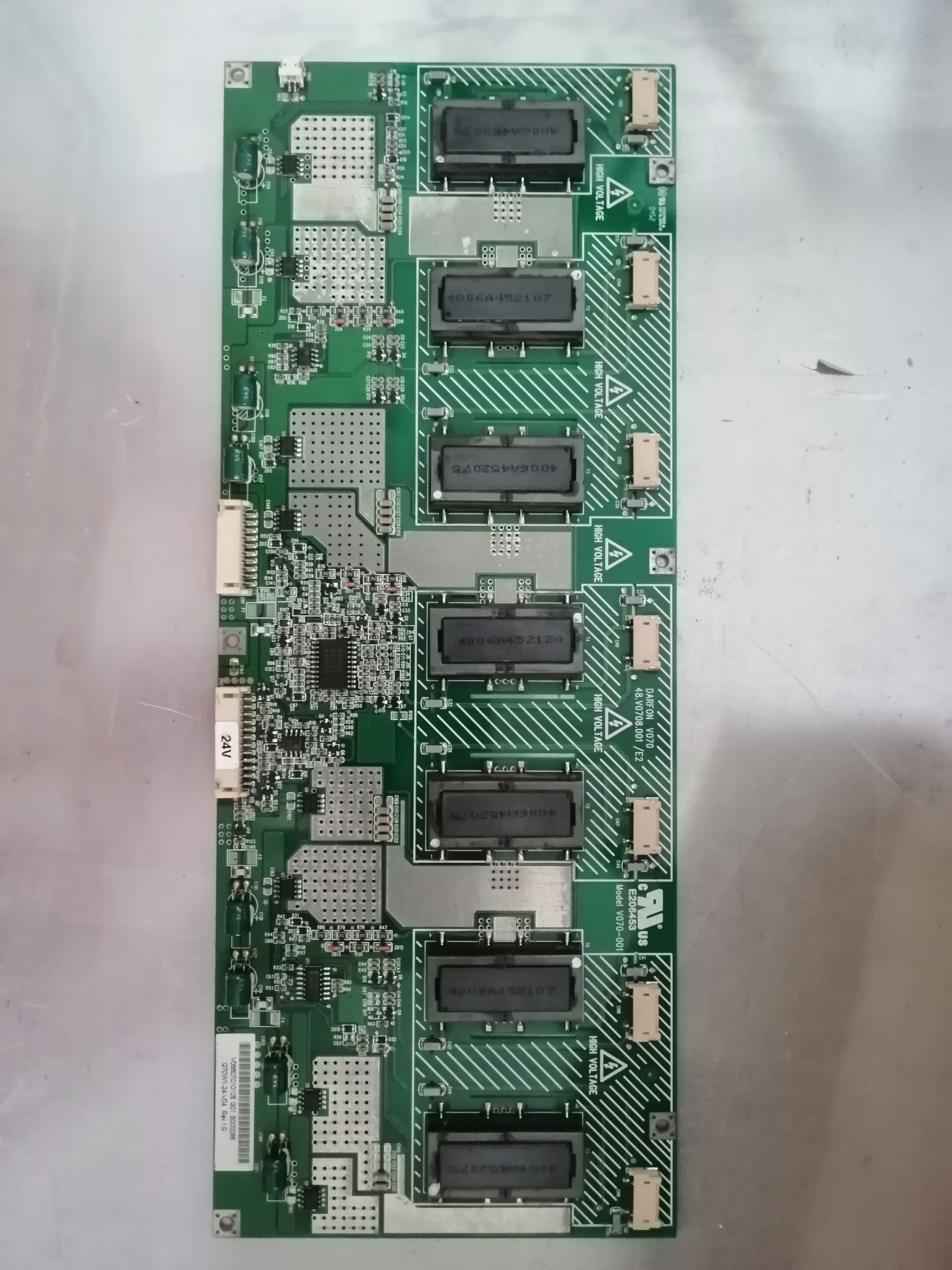 4H V0708 001 E5 48 V0708 001 E2 V070-001 high voltage Logic board for connect with  T-CON connect board