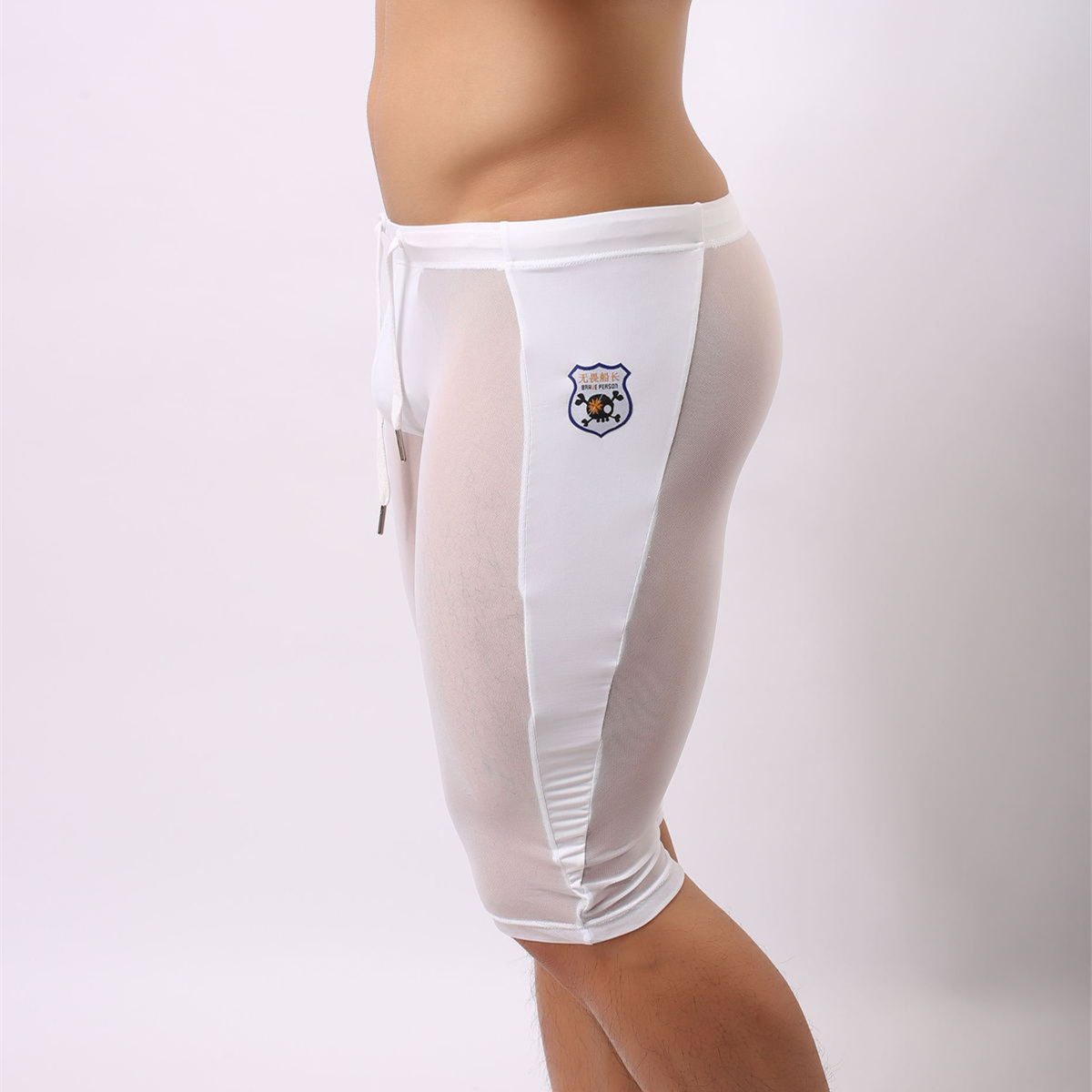 Brand Mænds Mode Sommer Sexy Casual Transparent Board Shorts Fitness - Herretøj - Foto 6