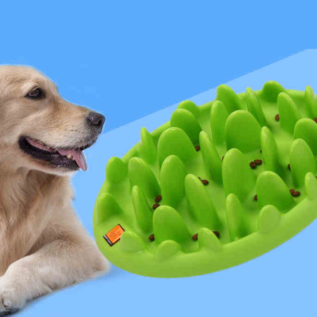 Cute Dog Food Bowl Slow Durable Bowls Water Dogs Container Waterers Feeder Cuenco Perro Plates Hond Voerbak Pets Product 50Z0716
