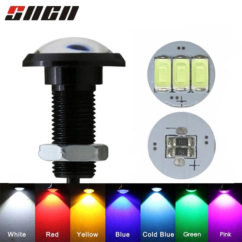 SNCN 1pcs Eagle Eye LED Car Light Daytime Running Lights DRL For Motorcycle Auto Parking singal Lapms 12v 24v 18mm 23mm
