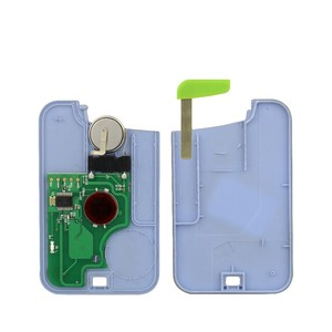 Image 3 - OkeyTech with Emergency Uncut Blank Blade 433mhz ID46 PCF7947 Chip Remote Control Smart Card Car Key for Renault Laguna 2 Button