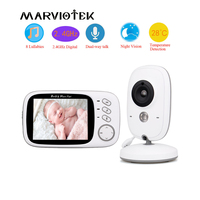 Home Security 3.2 inch Baby Monitor High Resolution Baby Nanny Security Camera Wireless Night Vision Temperature Monitoring