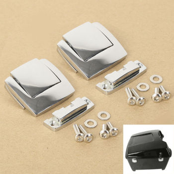 Motorcycle Razor King Trunk Latches For Harley Tour Pak Touring Road Electra Glide Ultra FLHX FLTR 1980-2013 motorcycle king pack latches for harley tour pak touring models electra road street glide 2006 2013