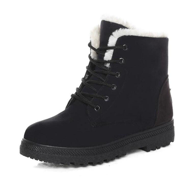 Women's High Heels Plush Winter Boots 35