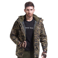 Tactical Jackets Mens Jacket Hiking Camping Skiing Hunting Fishing Outdoor Climbing Army Fans Camouflage Fleece Jacket