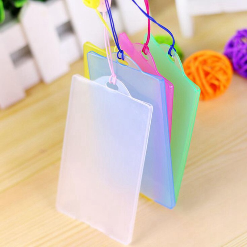 2 Pieces Transparent Waterproof Protection Card Set Plastic Simplicity Bus Card Holder Student ID Card Bank Business Card