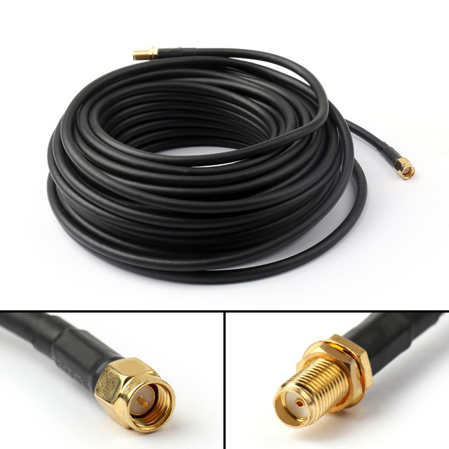 Areyourshop 15M SMA Male to SMA Female Jack Pigtail RG58 Cable Wire Extension Router 49Ft 50 ohm 1PCS High Quality Cables